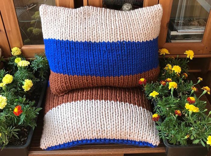Фото. Интерьерные подушки.  Автор работы - Анечка-Иванечка