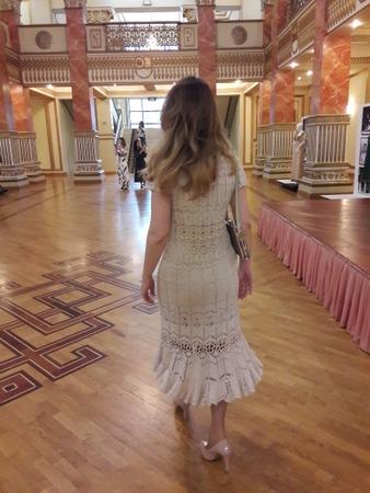 Платье крючком с отложным воротничком от Keita Maruyama