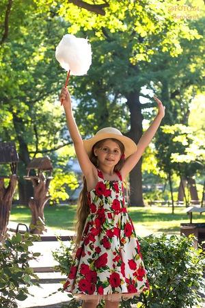 Фото. Сарафан для дочки. Хлопок-стрейч. Автор работы - Tolstik1