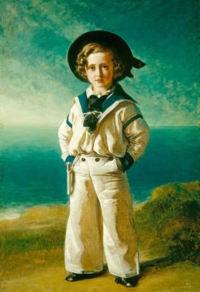 """Фото. Франц Ксавер Винтерхальтер """"Альберт Эдвард принц Уэльский, в будущем король Эдуард VII"""", 1846 г."""
