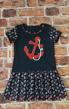 Фото. Платье с якорями - морская тематика в принте. Автор работы - NatalieK