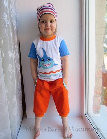 """Фото. """"За буйки не заплывать!"""". Детская одежда, аппликации.  Автор работы - sandra_2005"""