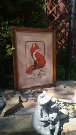 Фото. Примитивчик по схеме The Primitive Hare оформился в картину. Автор работы - Irina0201