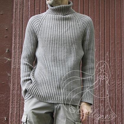 Фото. Пуловер Asphalt, хлопок, машина Silver Reed.  Автор работы - Lacelegance