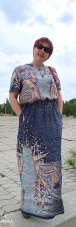 Фото. Платье из штапеля. Автор работы - тетя леля