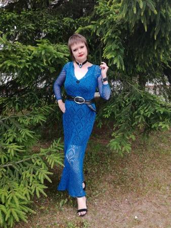 Фото. Платье в духе шетланда.  Автор работы - НатТусся