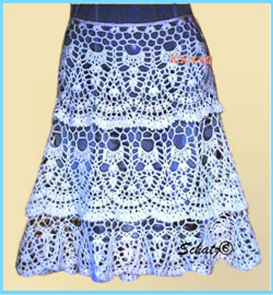 Оформим юбку крючком