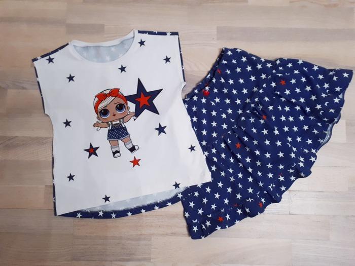 Фото. Футболочка и юбка с шортиками для дочи.    Автор работы - Fotiny