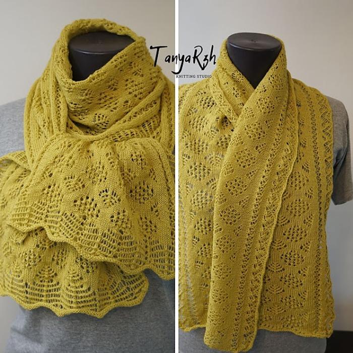 Фото. Два шарфа, шетландские узоры.  Автор работы - Танечка45