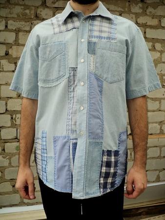 Фото. Переделка в стиле боро (почти бохо) сорочки для сына.  Автор работы - ИриннаЯ