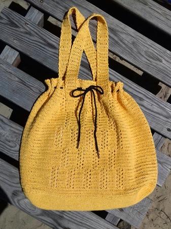 Фото. Пляжная сумочка из итальянской конопли.  Автор работы - Далиса