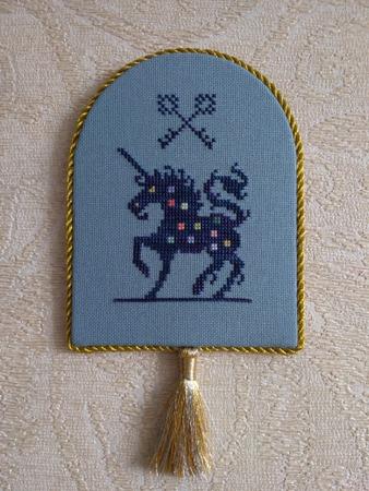"Фото. Единорог. Фрагмент дизайна ""Whitsun"" от Long Dogs Samplers.  Автор работы - Luffa"