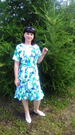 Фото. Платье из вискозы для отпуска.   Автор работы - Grafinyaa