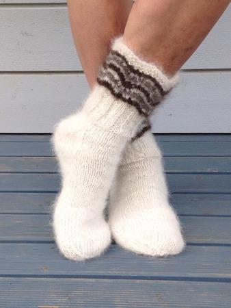 Фото. Носки с волнами - любимый узор.  Автор работы - PejGeps