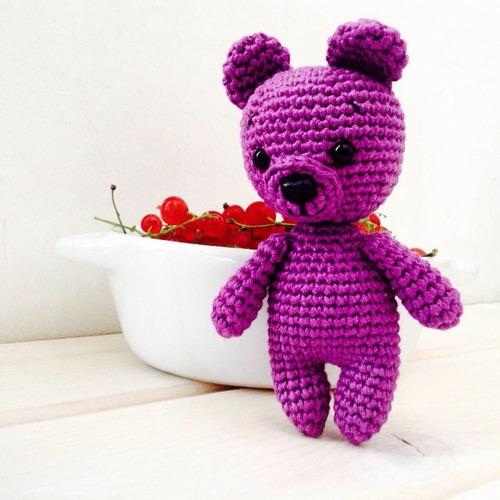 Фото. Амигуруми - ежевичный медвежонок Бра.   Автор работы - Юлдуз