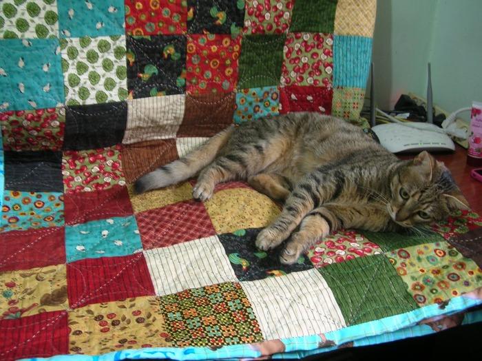 Фото. Одеяло в лоскутной технике - тоже мозаика! Автор работы - Dinina mama