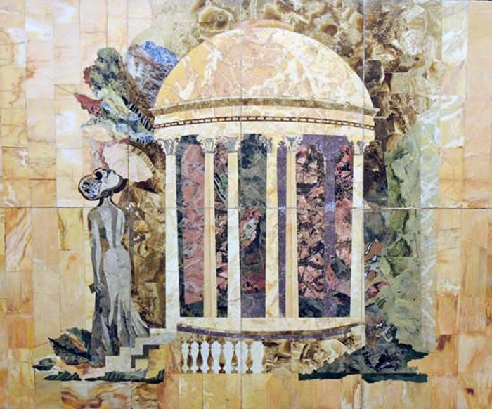 """Фото. Флорентийская мозаика. Станция метро """"Чеховская"""". 1987 г."""