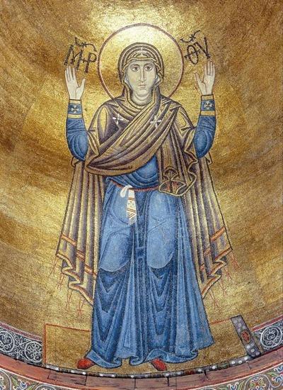 Фото. Богоматерь-Оранта. Собор св. Софии в Киеве. 1043–1046 гг.