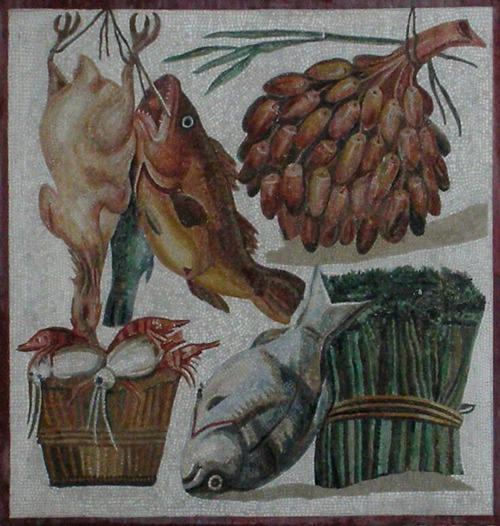 Фото. Римская мозаика. II век. Музей Ватикана.