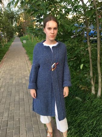 Фото. Вязаное пальто для дочери. Автор работы - Елена Трегубова