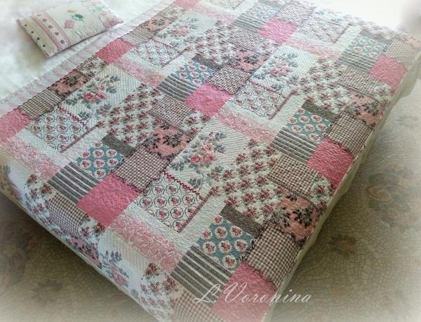 """Фото. Топ для одеяла из ткани с принтом """"пэчворк"""".  Автор работы - Карманьола"""