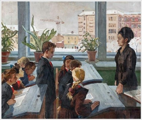 """Фото. Беляев Н.Я. (1916-2000) """"Не выучил урок"""" 1966 г."""