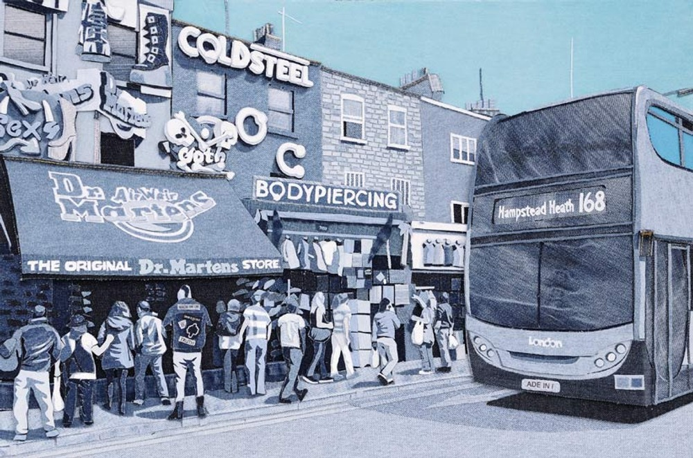 The Camden Crowd, Denim on Denim, 60x40cm (23.62x15.75inches), 2012