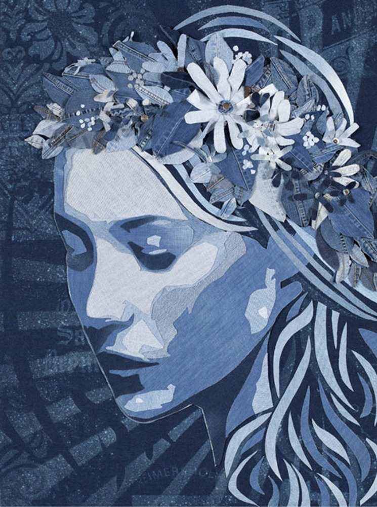 Midsummer Girl/Midsommar Flicka, 1200x900, Denim on Denim, 2010