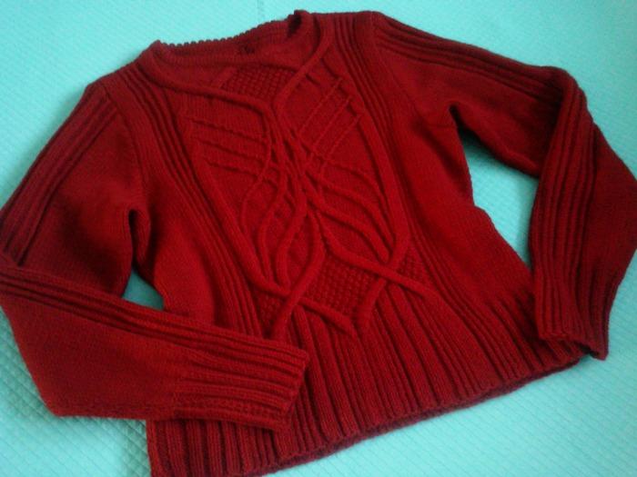 Фото. Пуловер на основе описания пуловера Nightingale от Norah Gaughan.  Автор работы - мамочкаИрочка