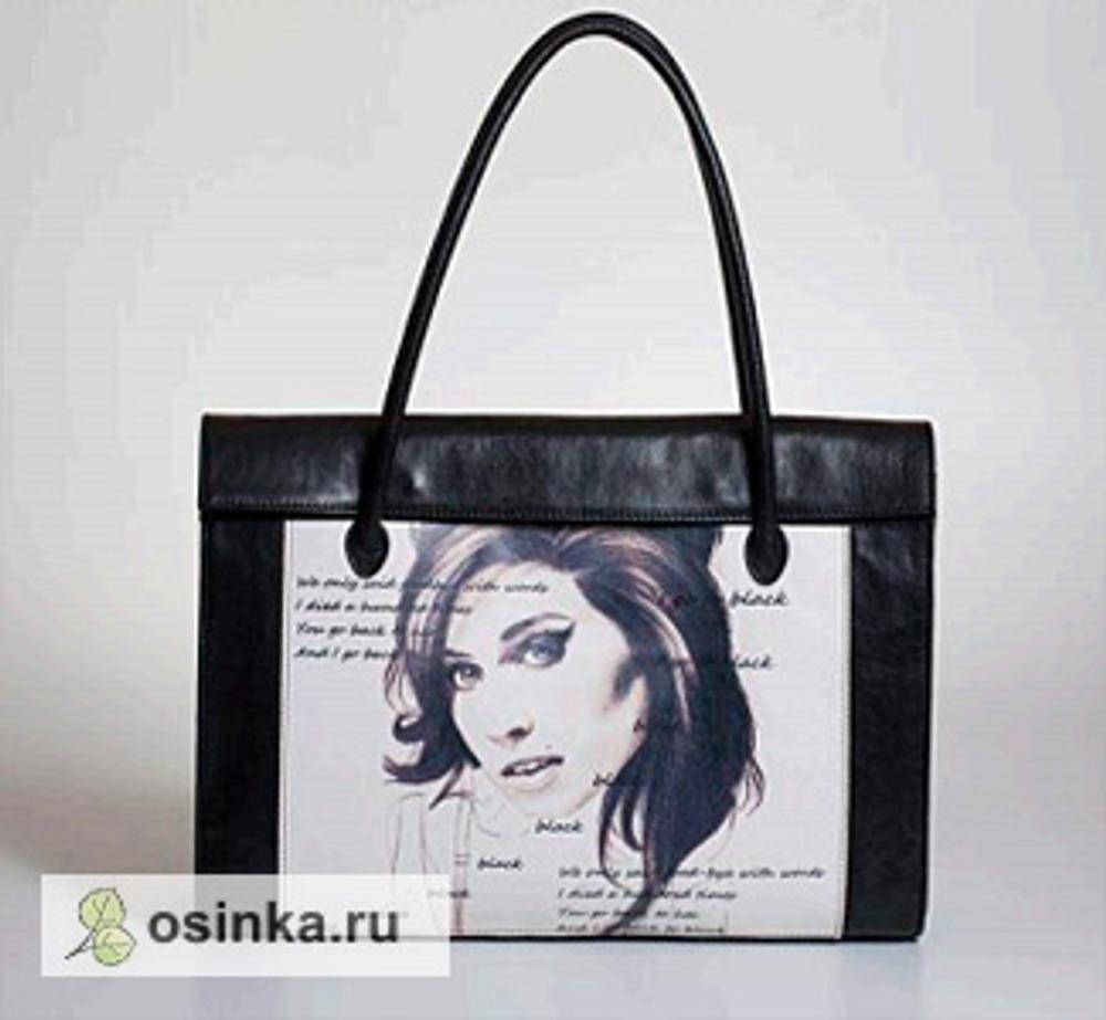 Фото. Сумочка с портретом Amy Winehouse.
