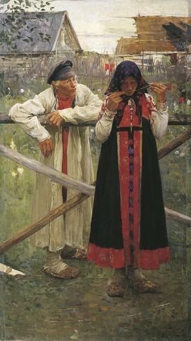 "Фото. Иванов М. Ф.(1869 - 1930), ""Ответа жду"", 1900 г."