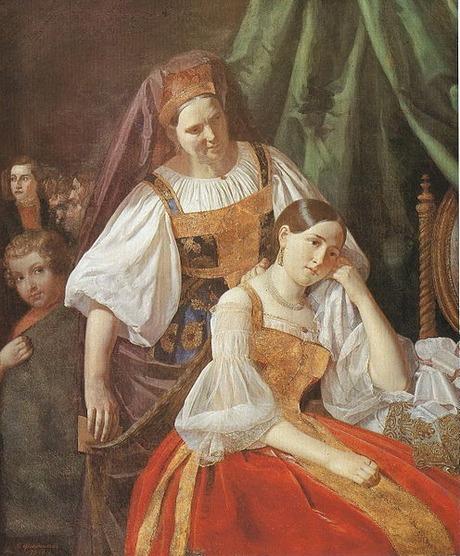 """Фото. Феклистов В.Е. """"Приготовление невесты к венцу"""",  1848 г."""
