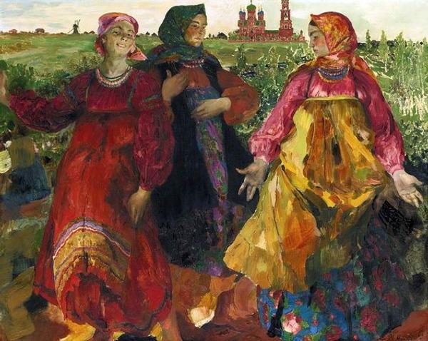 """Фото. Малявин Ф. А. (1869 - 1940), """"Три бабы"""", 1900 г."""