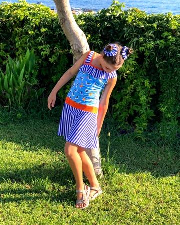 Фото. Платье-сарафан из кулирки.  Автор работы - masmar