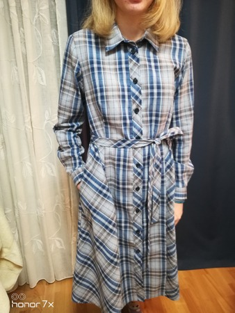 Фото. Вариант батника - платье рубашка.  Автор фото - галюся 45