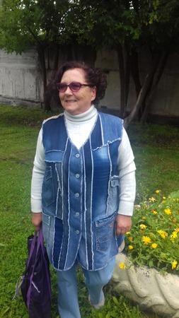 Фото. Жилет по заказу мамы из кусочков джинсы. Автор работы - Любушка-голубушка