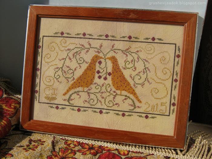 """Фото. """"Love Birds"""" от La-d-da, ткань самокрашенная.  Автор работы - sofijenn"""