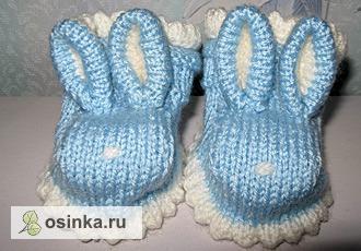 Фото. Тапочки для маленьких зайчиков и сочные пинеточки порадуют вашего малыша яркими красками! Автор работы - nika236932