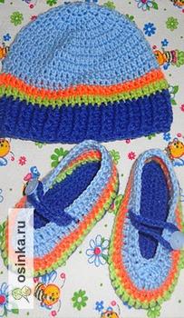 Фото. Теплые костюмчики, шапочки, тапочки - они порадуют любую модницу. Автор работы - анастасия18