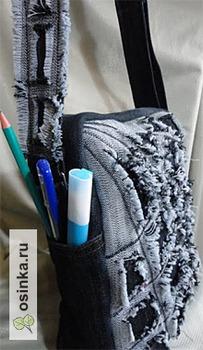 Фото. Молодежные стильные сумки из ткани. Автор работы - Тера