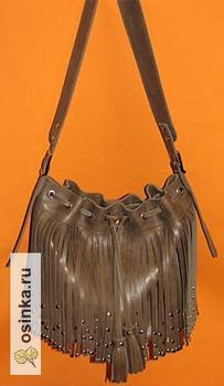 Фото. Стильная кожаная сумка с бахромой. Автор работы - lena-car