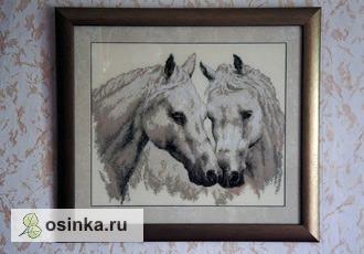 """Фото. Вышитая картина """"Лошади"""" - стильный подарок для самых близких от R_Ane4ka ."""