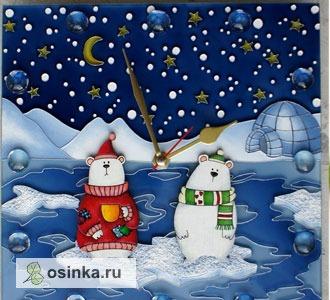 """Фото. Часы """"Полярная ночь"""" или """"Как Мишки Новый Год ждали"""" ..."""