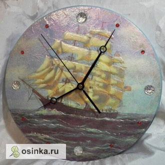 """Фото. Часы """"Осень в Провансе"""" выполнены в технике декупажа. Автор Аруна ."""