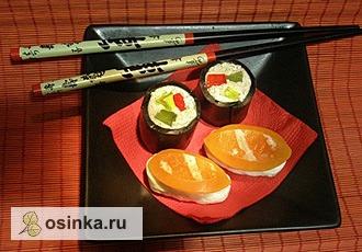 Фото. Мыло-суши и мыло-лимонное суфле от Elen More .