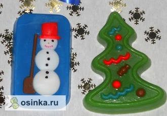 Фото. Веселое новогоднее мыло от Marina-Z порадует ребенка или станет забавным сувениром.