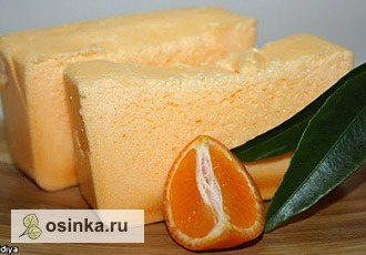 Фото. Взбитое мандариновое мыло не тонет и вкусно пахнет мандаринами. Автор - llidiya .