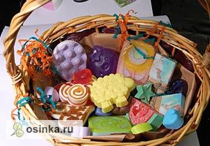 Фото. Мыло - отличный подарок! Подарочная корзина от Мия Кос .