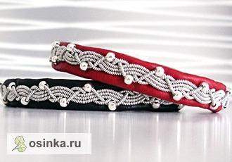 Фото. Шведские браслеты от Scandicraft выполнены из натуральной кожи ягненка с бусинками.