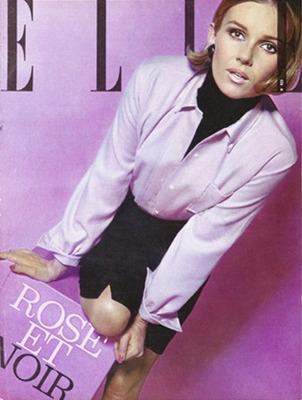 Фото. Николь де Ламарже на обложке журнала Elle.